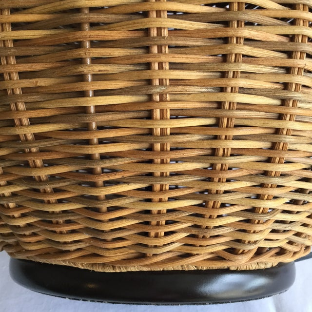 Large Round Wicker Lamp - Image 4 of 7