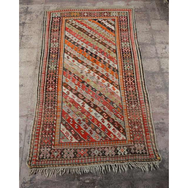 Antique Kurdistan Hand Made Rug w/Tribal design 4'x7' A beautiful piece that will add to your décor!