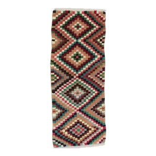 1960s Turkish Colorful Decorative Carpet