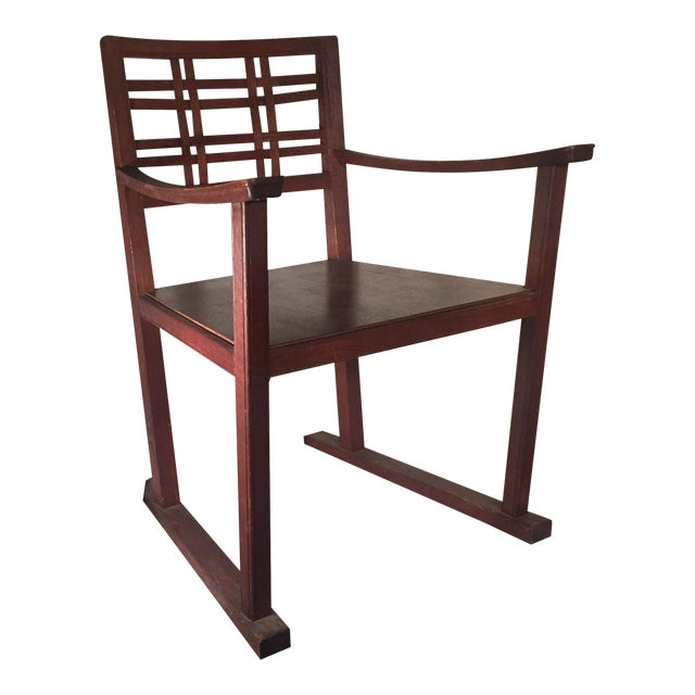 Modernist Oak Armchair - Image 1 of 6