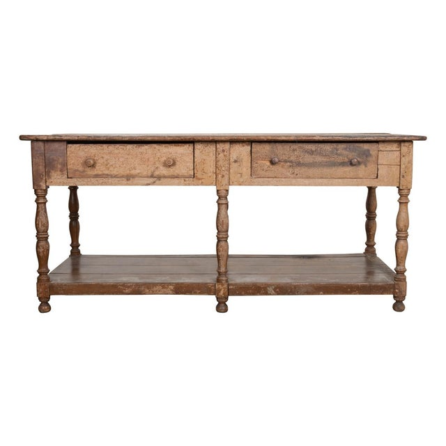 French 19th Century Painted Drapery Table For Sale - Image 13 of 13