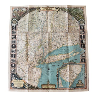 1939 Reaches of New York City Map For Sale