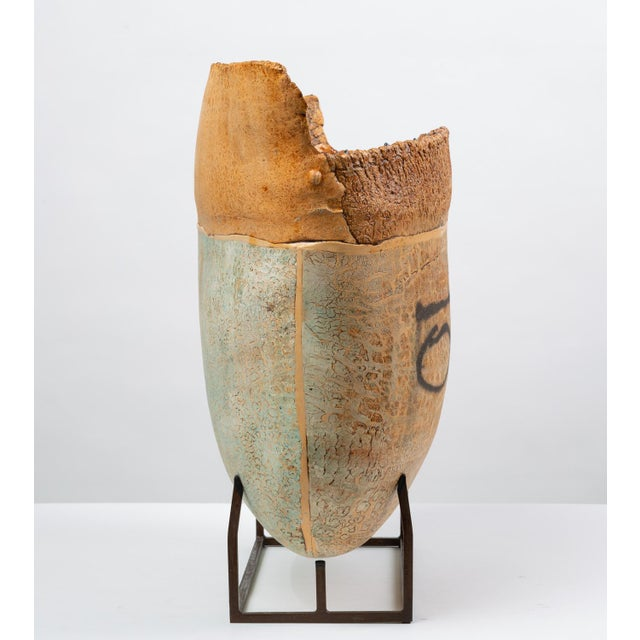 Ceramic Art Vessel With Mount by Jim Kraft For Sale In Los Angeles - Image 6 of 12