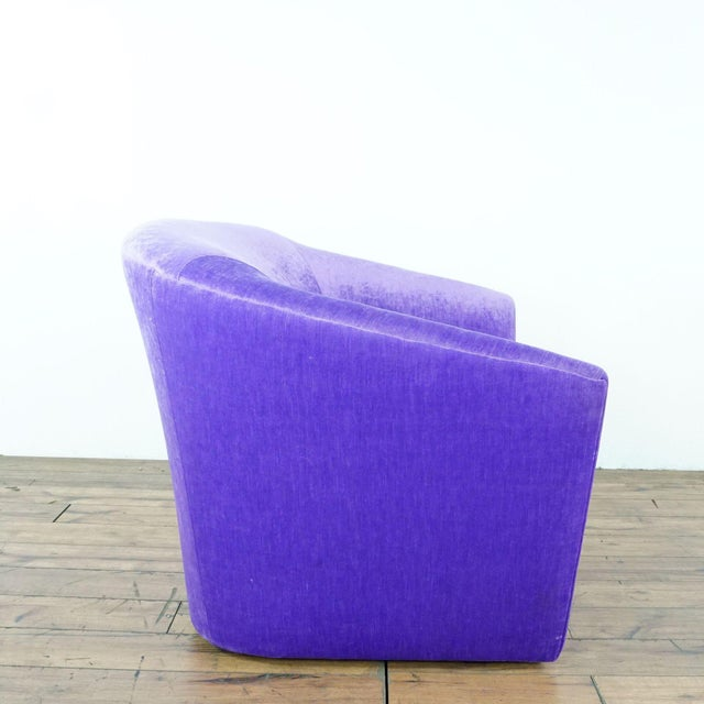 Purple Upholstered Chairs- A Pair For Sale In San Francisco - Image 6 of 9