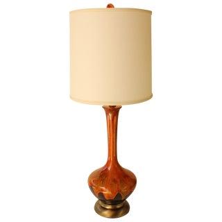 Royal Haeger Drip Glaze Table Lamp For Sale