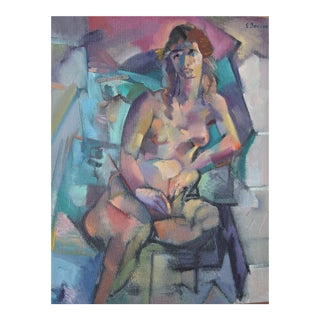 Edward Boccia Cubist Portrait of a Nude Woman, Mary, 1989