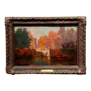 """19th Century """"Autumn in Venice"""" French Impressionist Oil Painting For Sale"""