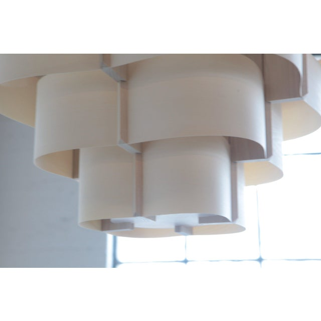 Mid-Century Modern Harry Weitzer Canopy Wood Lighting For Sale - Image 3 of 5