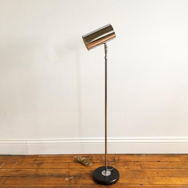 Vintage Mid Century Modern Adjustable Chrome Floor Lamp - Image 3 of 6