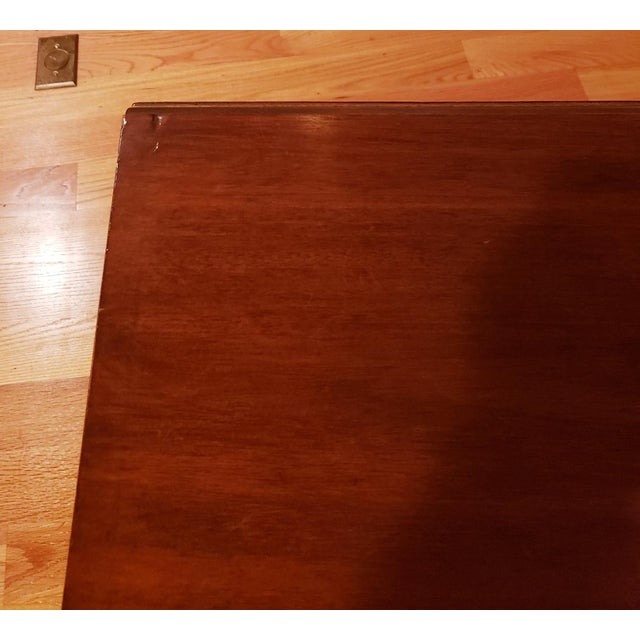 Vintage Mid-Century Modern Cherry Drop Leaf Pembroke Dining Table For Sale In Raleigh - Image 6 of 7