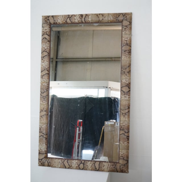 """French """"Snake Skin"""" Vintage Mirror For Sale - Image 3 of 9"""