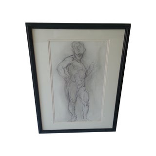Male Nude Sketch For Sale