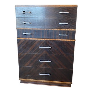 1930s Art Deco Tall Chest of Drawers For Sale