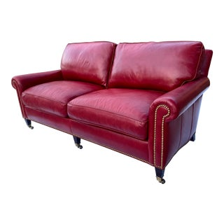 Fine Hancock and Moore 4152 Reserve Sofa in Patent Leather For Sale