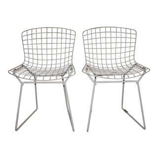 Harry Bertoia for Knoll Children's White Wire Chairs - a Pair