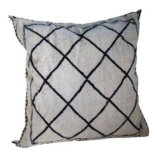 "Moroccan Wool Pillow 26"" x 26"""