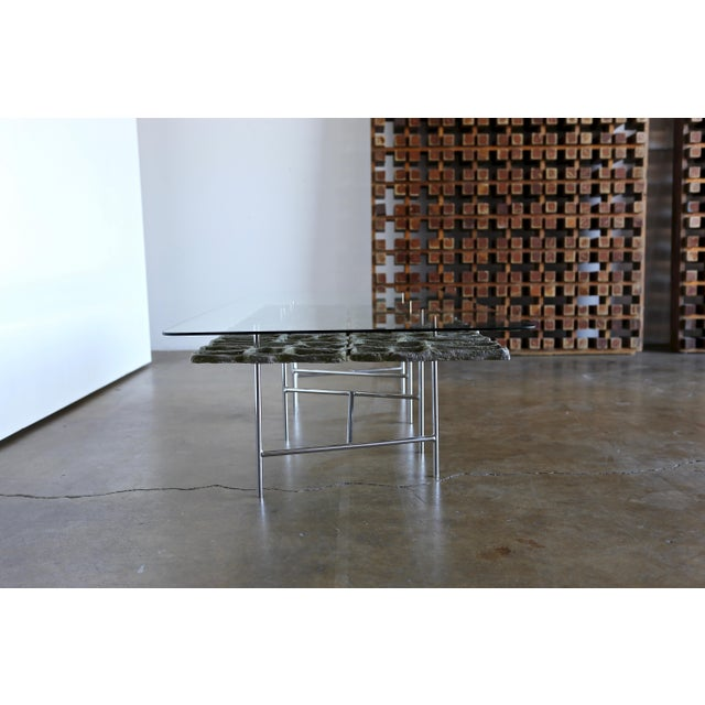 Brutalist Mid Century Sculptural Coffee Table by Donald Drumm For Sale - Image 3 of 12