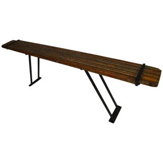 Painter's Scaffolding on Steel Base as Sofa Table, Hall Table, Buffet Table