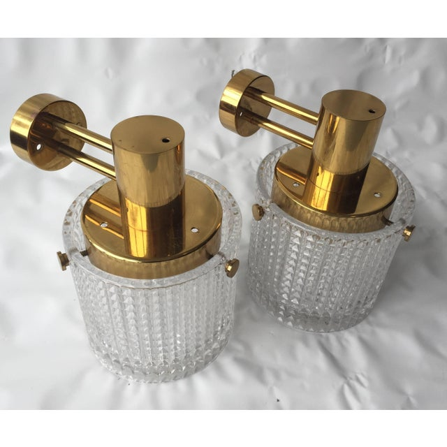 Orrefors Up or Down Mounted Wall Lights Orrefors Attributed - a Pair For Sale - Image 4 of 6