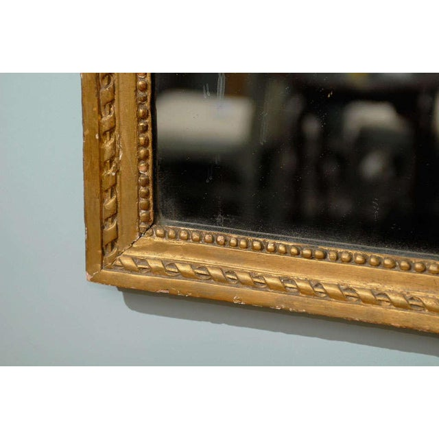French 19th Century Gilded Carved Mirror With Bird and Rose Motifs For Sale - Image 9 of 11