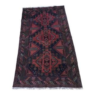 Vintage Tribal Baluchi Rug - 3′8″ × 6′7″