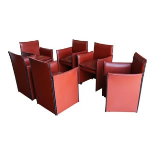 Late 20th Century Mario Bellini 'Break' Armchairs - Set of 6 For Sale