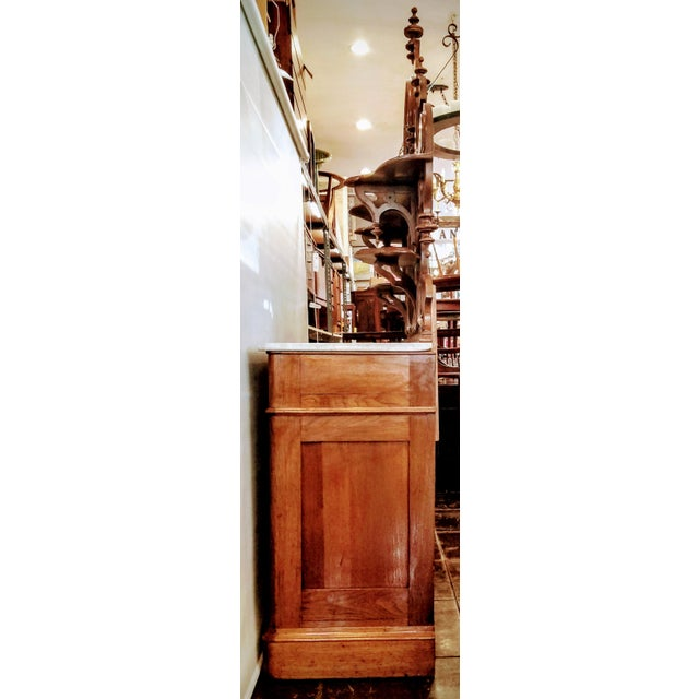 American Victorian Gothic / Renaissance Revival Italian Marble Del Duomo Topped Sideboard For Sale - Image 12 of 13