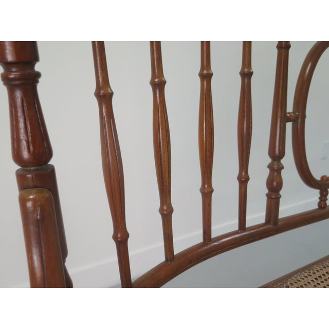 Brown Early 20th Century Thonet Style Bentwood and Caned Settee For Sale - Image 8 of 13