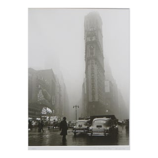 1990s Realism Photograph of Times Square in the Rain by Fred Stein For Sale