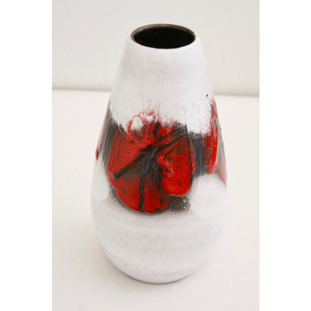 """This is a beautifully proportioned German lava glaze vase. Its base is marked """"Made in Germany""""."""