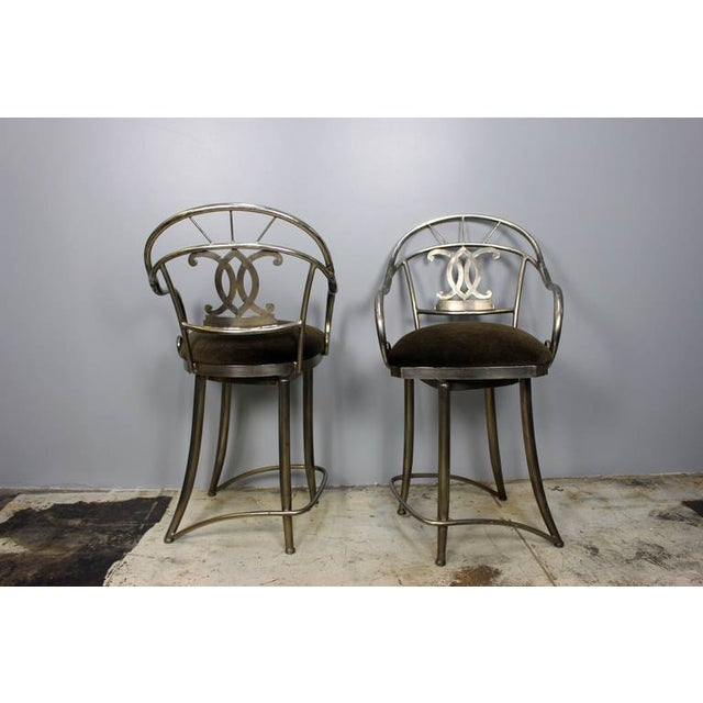 Bar Stools With Swivel Seat - Pair - Image 2 of 5