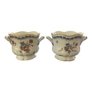 Late 19th Century Sèvres Style Cache Pots - a Pair For Sale