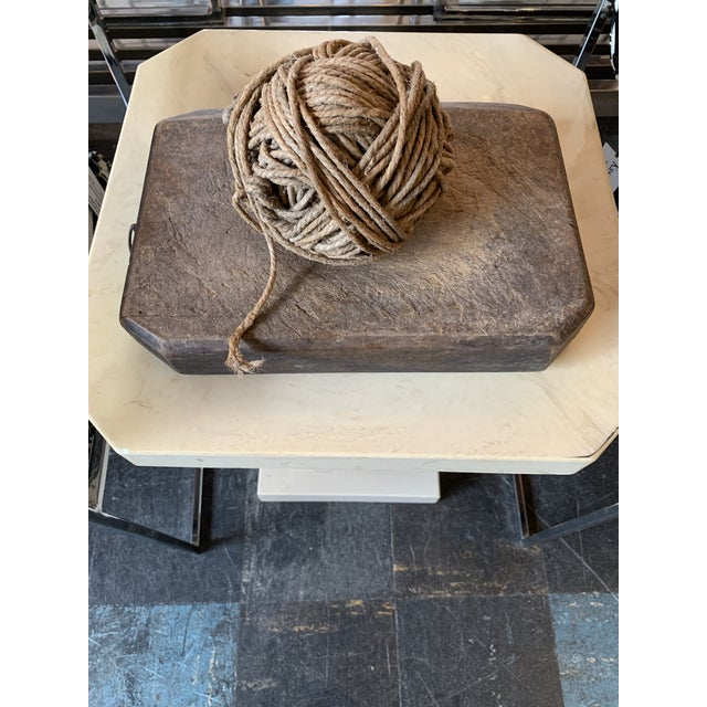 1940s Twine Ball on Primitive Wood Block For Sale - Image 5 of 5
