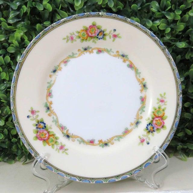Blue Vintage Mismatched Appetizer Plates, Set of 8 For Sale - Image 8 of 11