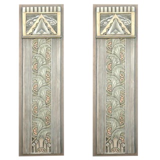 Art Deco Movie Theater Wall Plaques