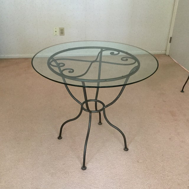 Drexel French Countryside Glass Top Round Table - Image 2 of 4