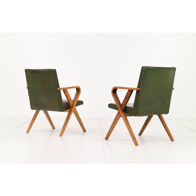 Mid-Century Modern Pair of Henry Glass Armchairs For Sale - Image 3 of 5