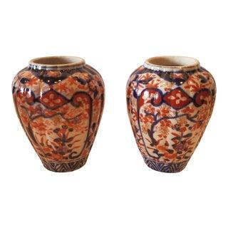 Pair of Imari Vases For Sale