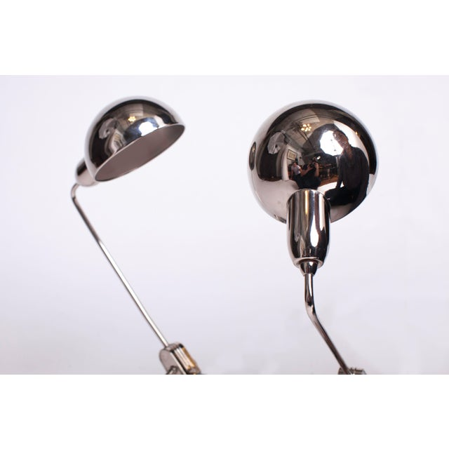 Charlotte Perriand 1940s Charlotte Perriand Jumo 600 Round Chrome Table Lamps - a Pair For Sale - Image 4 of 6