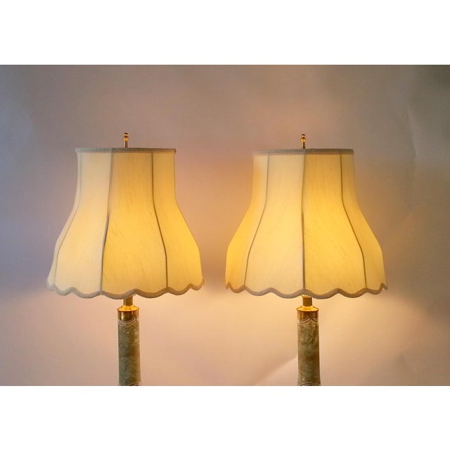 Mid-Century Table Lamps Eglomise Style - Image 5 of 11