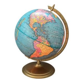 Vintage Illuminated World Globe