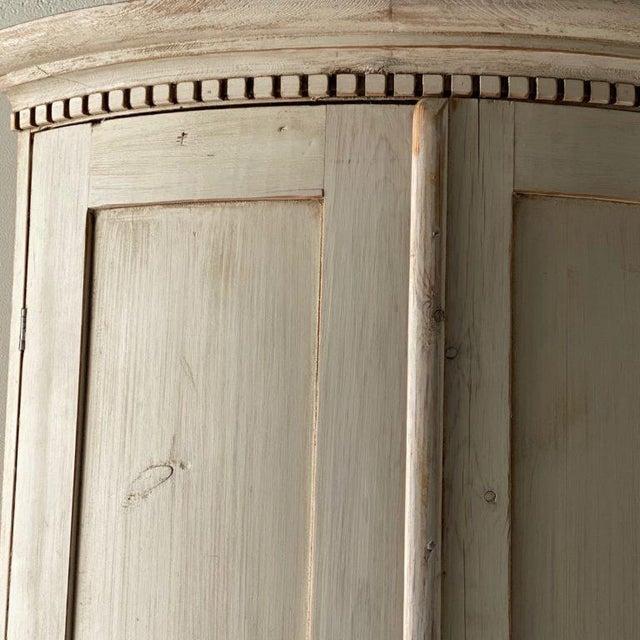 Wood Antique Gustavian Corner Cabinet For Sale - Image 7 of 13
