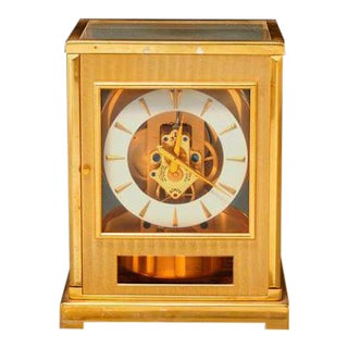1960s Jaeger-LeCoultre Gilt Brass Atmos Clock For Sale