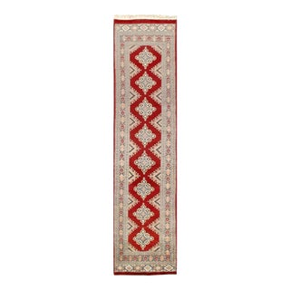 Pasargad Red Fine Hand Knotted Bokhara Runner- 2'7'' X 11'5'' For Sale