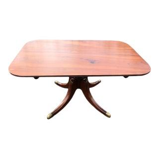 Antique English Regency Mahogany Tilt Top Breakfast Table For Sale