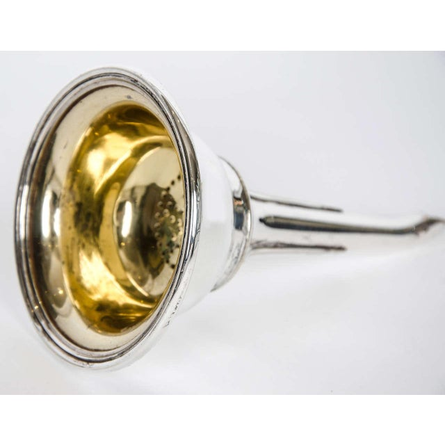 Metal Silver Plate Wine Funnel For Sale - Image 7 of 8