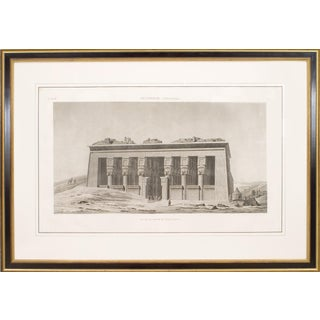 Large 19th Century French Neoclassical Egyptian Archaeological Print For Sale