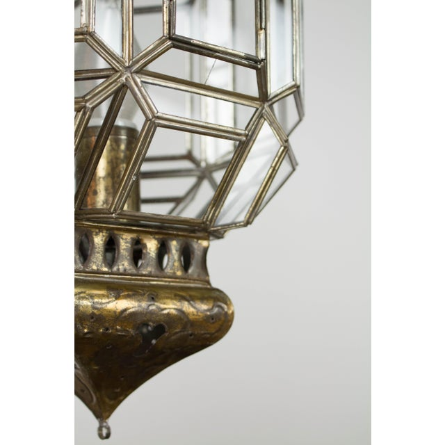 Glass Mexican Tin Lantern For Sale - Image 7 of 9