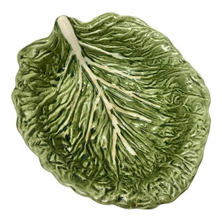 Antique Majolica Lettuce Bowl