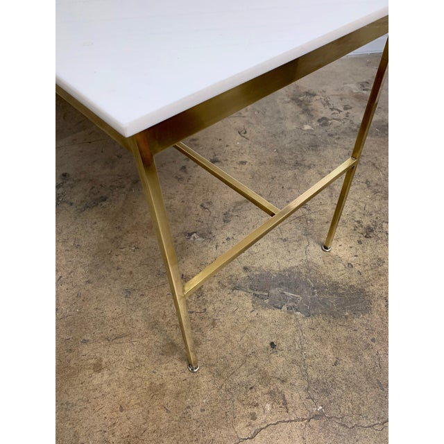 Brass Brass and Vitrolite Console Table by Paul McCobb For Sale - Image 8 of 13